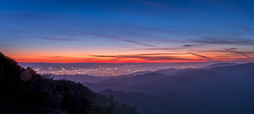 california ca sunset panorama mountains spring dusk sanjose santaclara layers siliconvalley mountainview lickobservatory mounthamilton 2015 photomergepanorama lightroom6 photomergehdr
