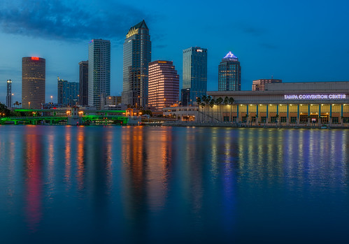 sunset reflection skyline tampa effects florida gainesville beercan processing nik hdr stpatricksday hillsboroughriver photomatix sykesbuilding eventsholidays plattstreetbridge rivergatebuilding