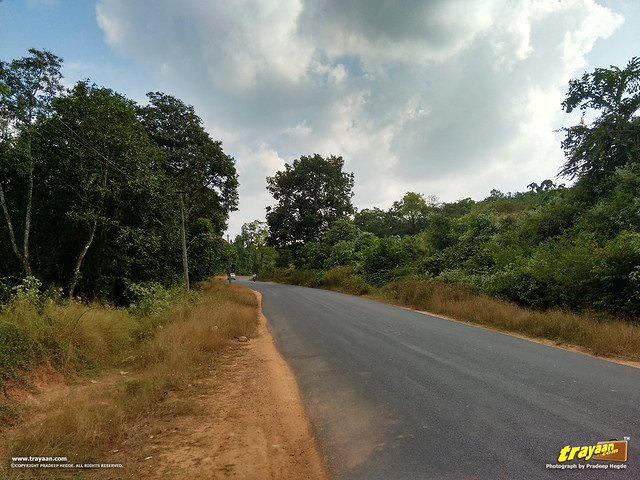 A view along the Udupi - Karkala road via Hiriyadka, Udupi district, Karnataka, India