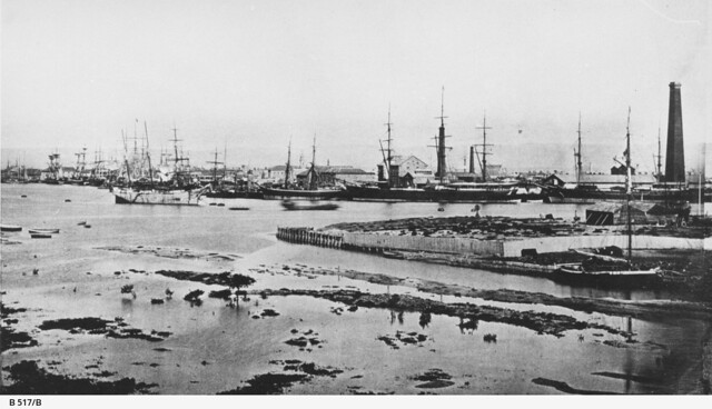 View of Port Adelaide, looking east from Glanville