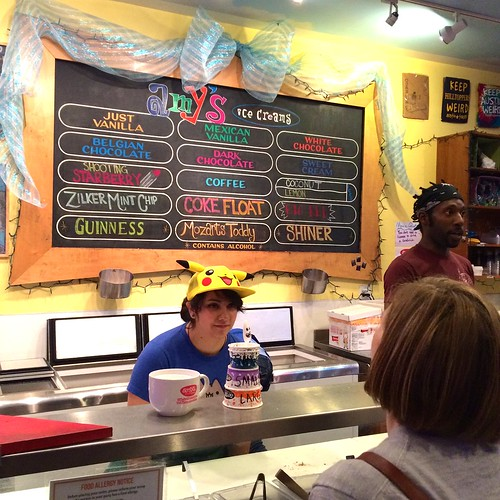Getting ice-cream at Amy's.