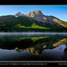 Early morning with The Wedge from a misty Wedge Pond, Kananaskis, Alberta by kgogrady