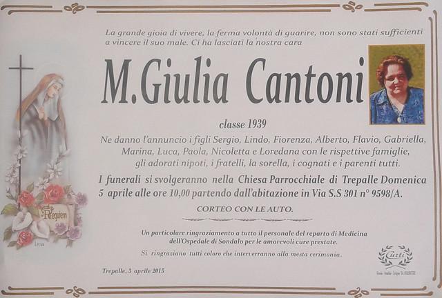 Cantoni M Giulia