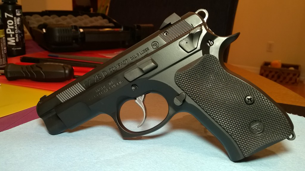 CZ-75 D PCR with new grips