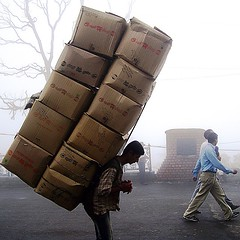 That's how they #carry #load in the #hills of #india this #picture taken at #shimla #north #india #himachal #life is #tough but it goes on #move