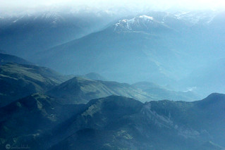 The French Alps from an Aircraft