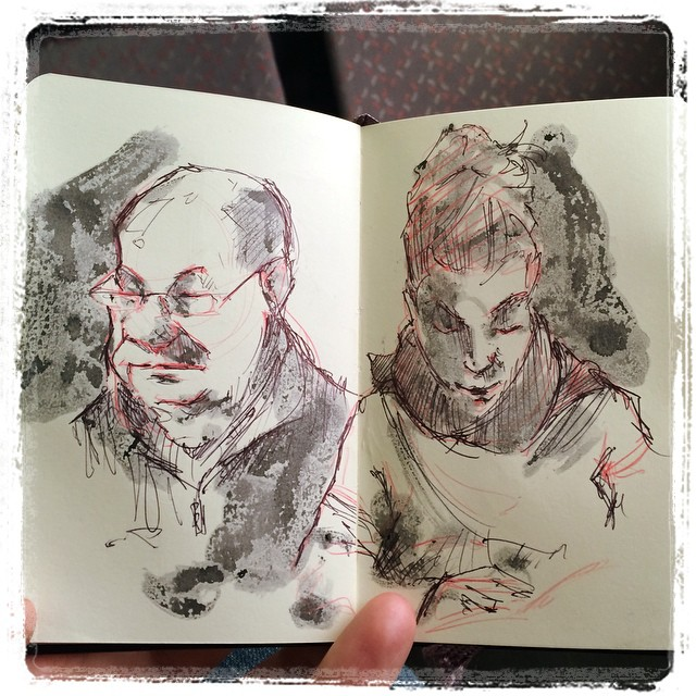 #train #urbansketch #pencil #bic #pentel