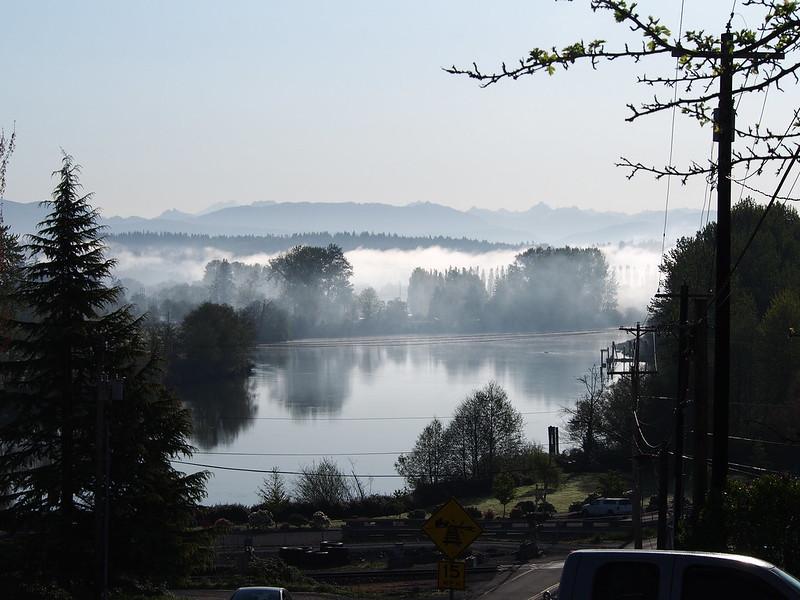 Snohomish River: A bit foggy
