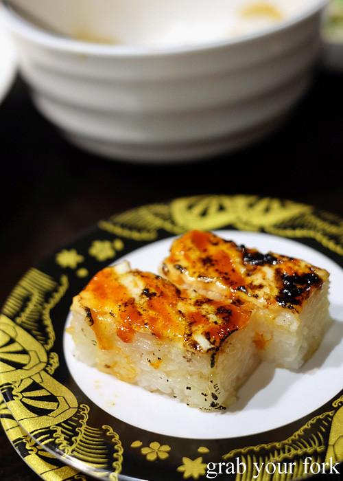 Spicy prawn box sushi at Ashin, Campsie