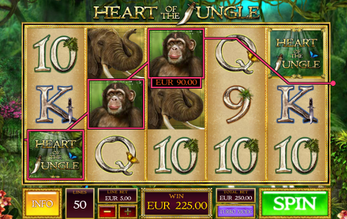 free Heart of the Jungle slot wild symbol