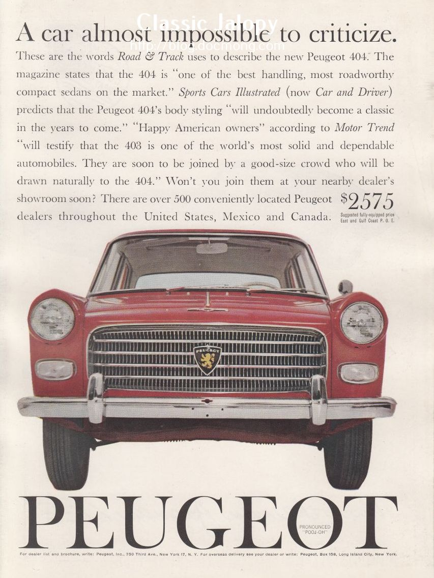 Ad of the week: Peugeot 404