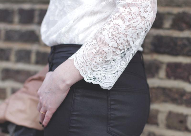 Wallis Scalloped Edge Lace Shirt, Bumpkin Betty Fashion Blog
