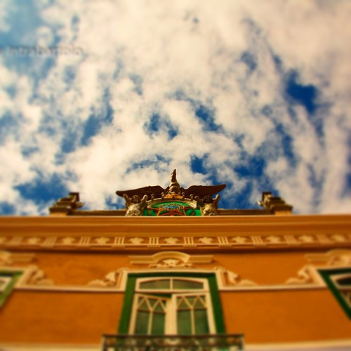#sertao da #Bahia #Condeúba #terra #batida #Intrabartolo #fotograforibeiraopreto #douglasfotografias #ceu #fachada da #prefeitura #municipal