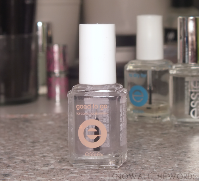 essie top coat comparison- essie good to go