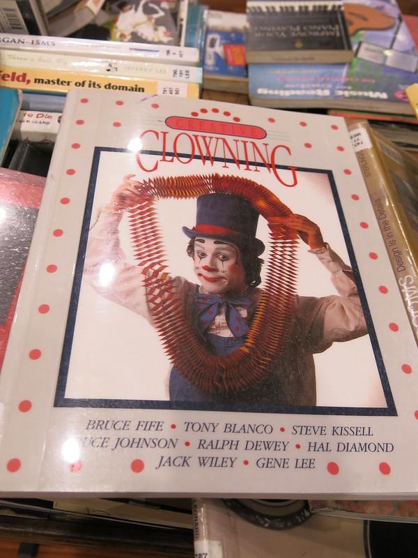Clown book at Book sale