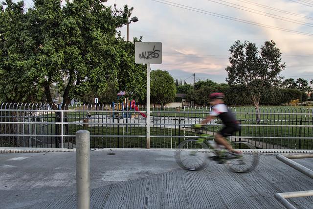 Biking at dusk