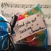 @smlgatsby brought me treats at the show tonight! Thanks friend!