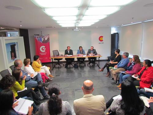 Encuentro ONGs y la La directora de Cooperación Multilateral, Horizontal y Financiera de la AECID en Madrid, Laura López de Cerain