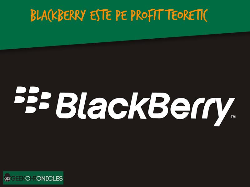 Blackberry raporteaza profit