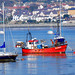 FISHING BOAT BEAUMARIS 500 AND YACHT MILA AT CONWY.