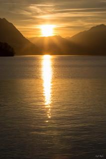 Brunnen - Sunset