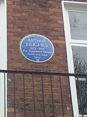 Photo of Arthur Hughes blue plaque