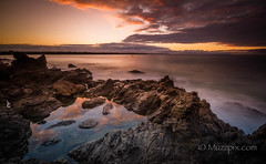 """muzzpix-nz posted a photo:Facebook      500px    WebsiteThe rhyolite lava formations around the Mount make for interesting pools at low tide . Still best to watch the waves tho ... it""""s a bummer if the camera gear gets wet ..."""