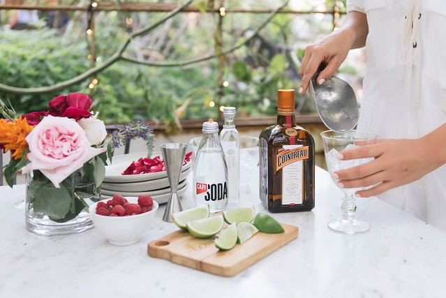 How to make a rose water cointreau fizz
