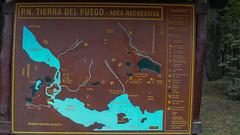 Tablica informacyjna - Tiera del Fuego National Park