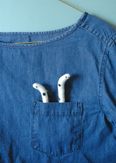 Spotted Garden Eel Brooches