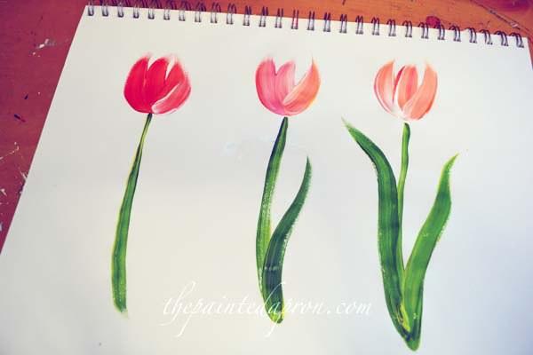painting-tulips-thepaintedapron-com