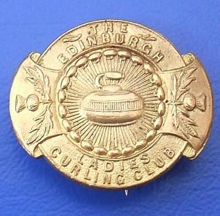Edinburgh Ladies Curling Club - merchandise/supporter's badge (1960's or earlier.)