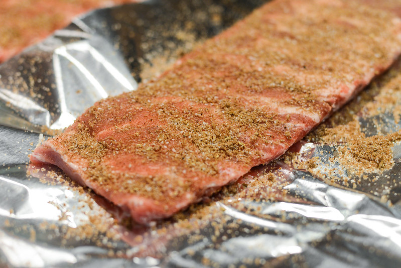 Smoked and Fried Hoisin-glazed Ribs