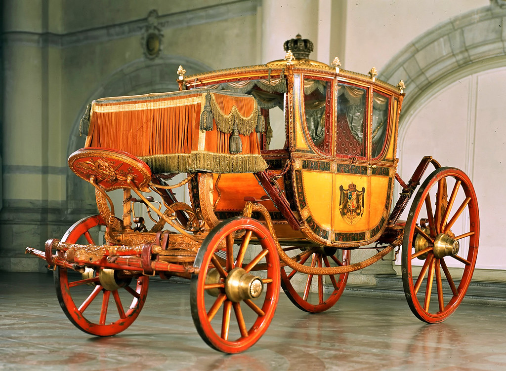 Queen Brysselska carriage. The Royal Armoury, Stockholm
