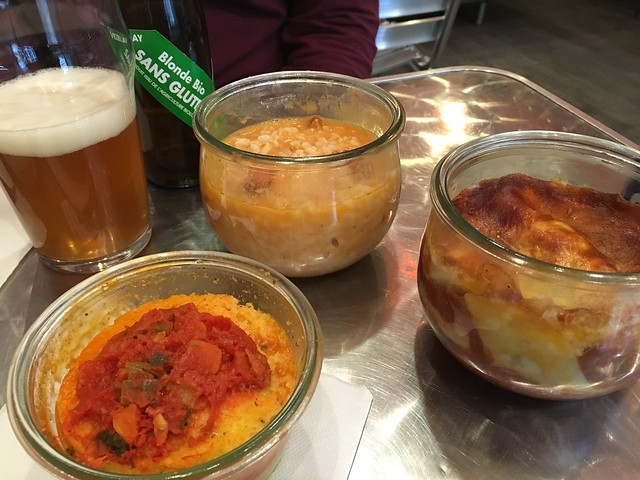 Gluten-free beer, polenta, chorizo risotto and lasagna at Risotto & Co Avignon France