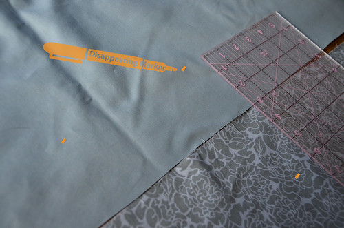 Step 2 - Continue to Mark Overlap Length from Edges of Both Strips