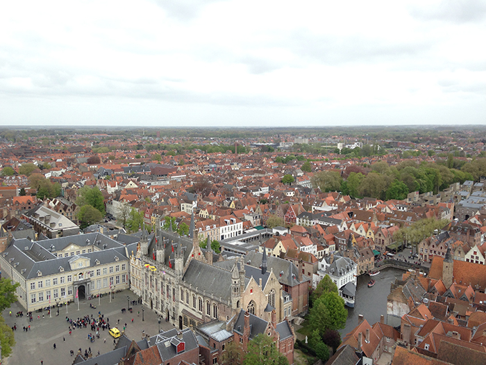View of Bruges from the Belfort Tower