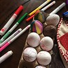 Decorating eggs #plaster #eggallergy