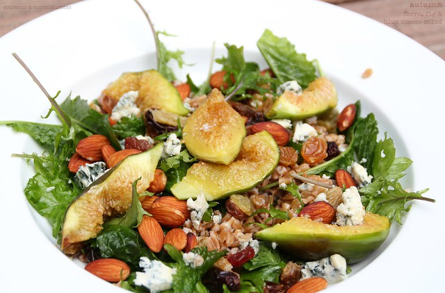 Autumnal Farro, Fig & Blue Cheese Salad 3