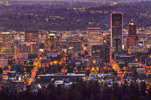 oregon sunrise portland mounthood hooddowntown