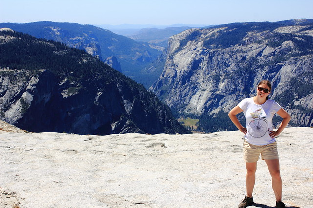Jenni at Half Dome, Yosemite