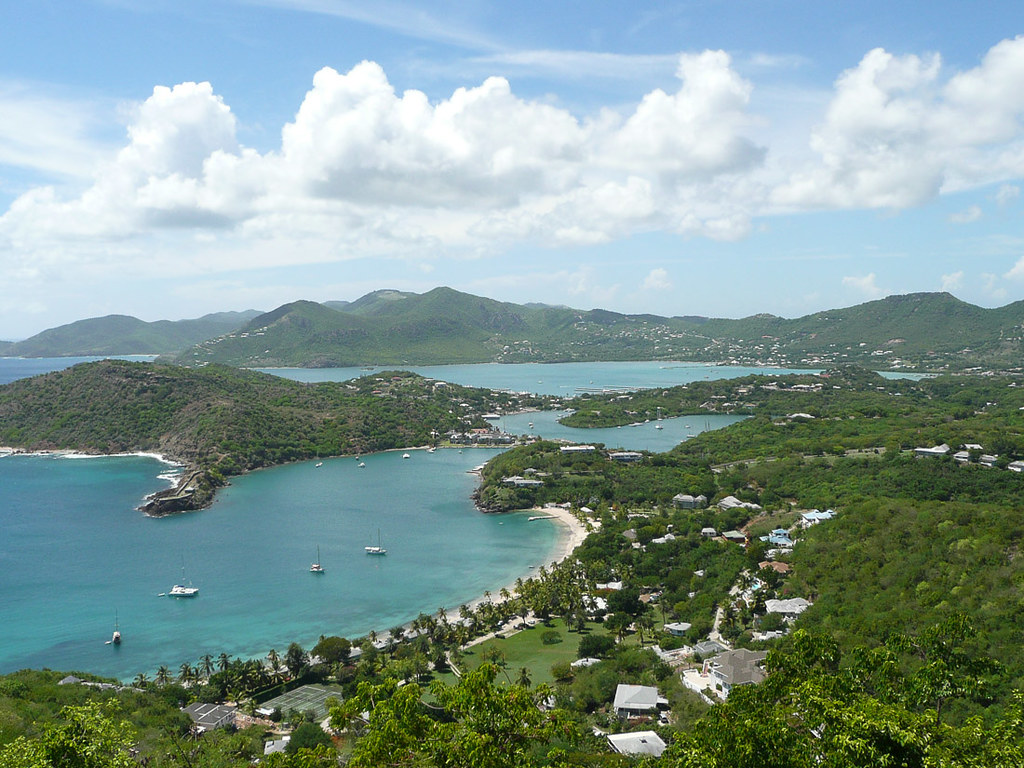 Views fromShirley Heights Lookout in Antigua