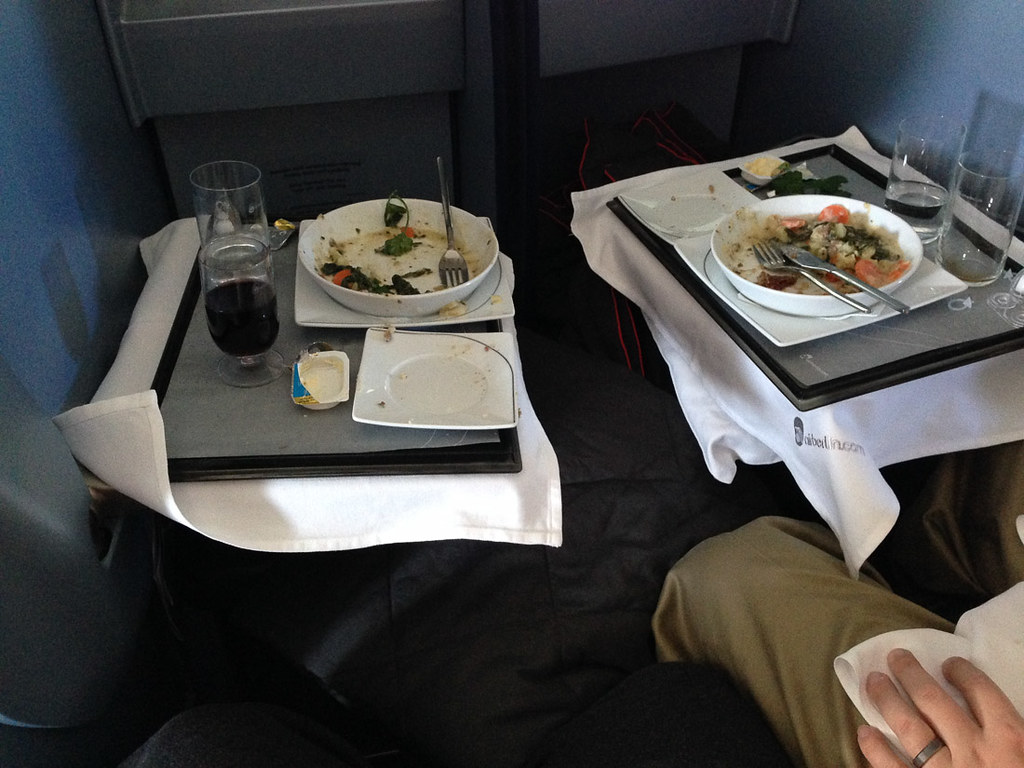 Air Berlin Business Class meal service