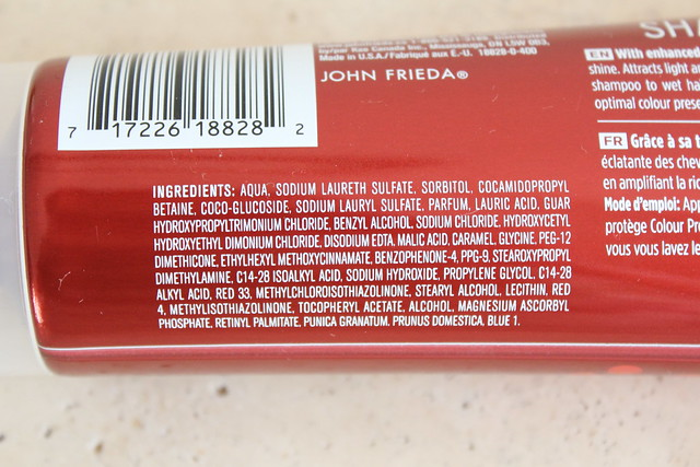 John Frieda Radiant Red shampoo conditioner ingredients