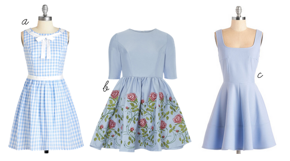 blue dresses