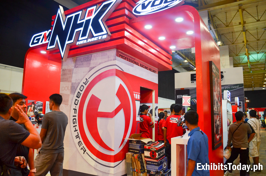 NHK Racing Helmets Exhibit Booth