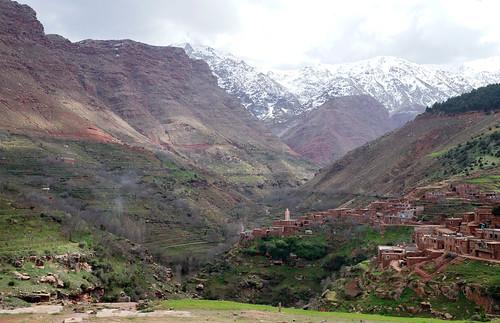 snow mountains valley maroc highatlas