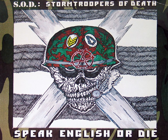 "S.O.D Stormtroopers of Death Speak English Or Die 12"" Vinyl LP"