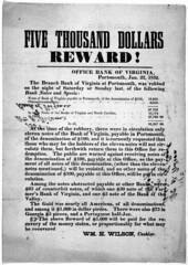 Bank of Virginia handbill