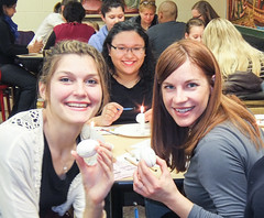 The Slavic Program's annual Egg-Decorating Workshop. Students, faculty and community members learned how to make beautiful Easter eggs using wax and dyes.